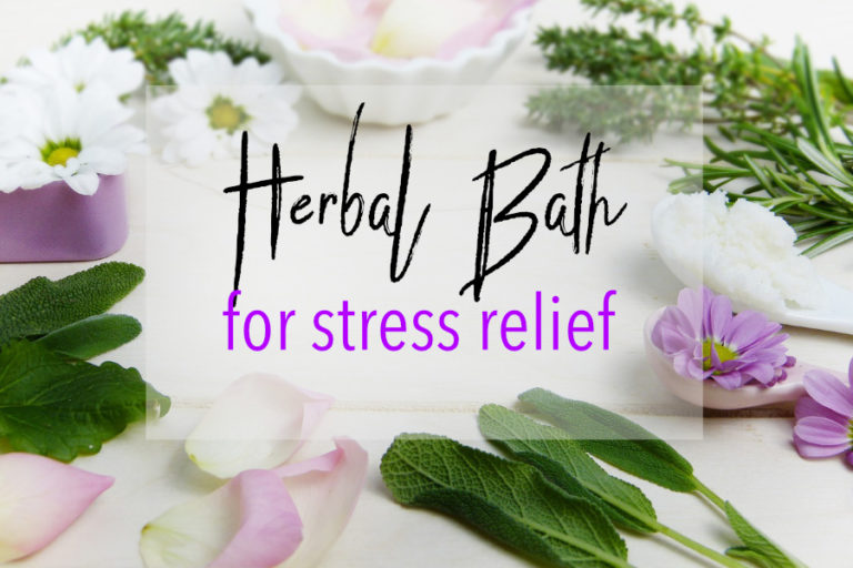Herbal bath for stress relief
